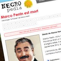 L'acteur Marco Perrin demande à Nécropédia sa nécrologie anticipée