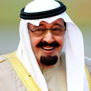 El rey Abdullah de Arabia Saudí