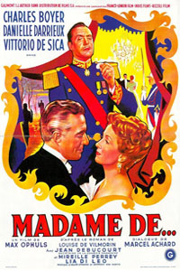 The Earrings of Madame de… Poster